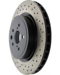 Centric Premium OE Style Drilled Rear Brake Rotor for Lexus IS F 2008-2014 - 128.44163