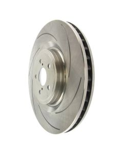 Centric C-TEK Rear Right Slotted Brake Rotor for Lexus RC F and GS F - 226.44193