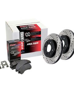 Stoptech Street Axle Pack Drilled 4 Wheel Lexus IS250 Front and Rear 2014-2015 2.5L V6- 936.44081