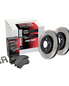StopTech Street Axle Pack Slotted Front Lexus IS250 Front 2014 2.5L V6- 937.44084