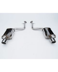 Invidia Q300 Axle-Back Exhaust Rolled Stainless Steel  Tips Lexus IS200T 2016+- HS15LIS2G3SH