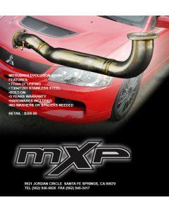 MXP Stainless Pre-Cat Downpipe Mitsubishi Evolution VIII IX MR 03-07