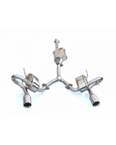 HKS Super Sound Master Stainless Steel Twin Loop Axleback Exhaust System Lexus IS-F 08-15 - 32023-AT001