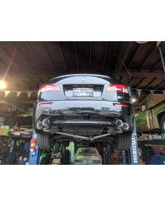 PTS True Dual Catback Exhaust - Joe Z Series for Lexus IS-F 2008 - 2014 with Quad 3.5 inch Tips