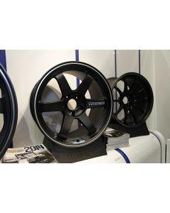 VOLK RACING TE37 ULTRA 19X9.5 +44 OFFSET  5X114.3 MATTE BLACK