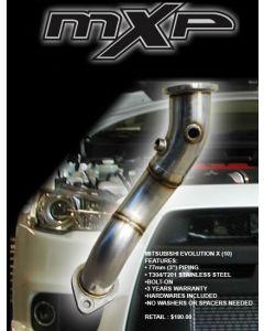 MXP Stainless Pre-Cat Downpipe Mitsubishi Evolution X 08-12